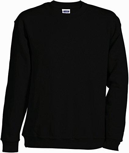 JN-0.40 James+Nicholson Herren Sweatshirt (auch in Übergrößen - bis Größe 5XL), Black , Gr. 3XL 3XL,Black