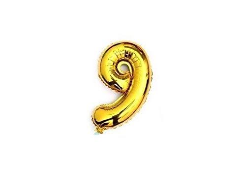 ballon - 41 cm - goud - cijferballon - cijfer 9
