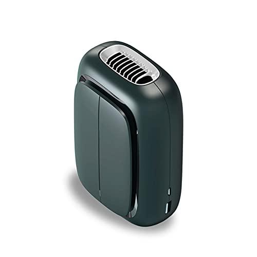 Ventola Portatile Ricaricabile con Clip in Vita Appesa Vento Super Potente Ventola di Raffreddamento e Prevenzione del Colpo di Calore a Lunga Durata,Black