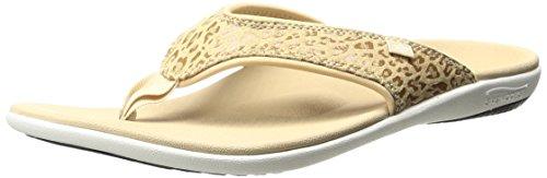 Spenco Women's Yumi Cheetah Sandal, Tan, 8 M US