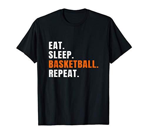 Eat Sleep Basketball Ball Sport Geschenk T-Shirt