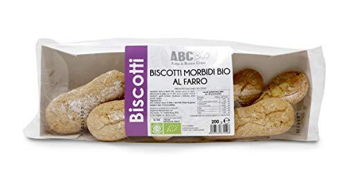 Carioni Food & Health Bizcochos de soletilla con harina de Farro ecológica, Galletas Bio - 200 gr