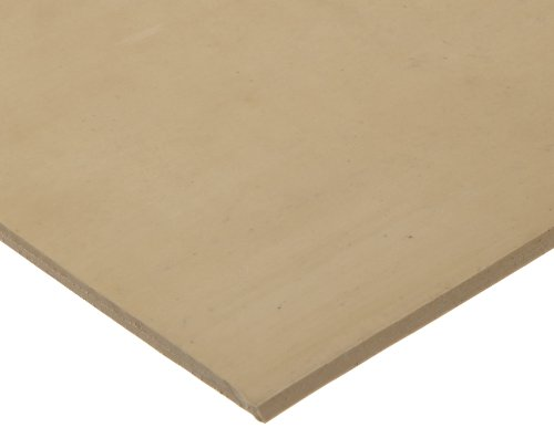 Gum Rubber Sheet Gasket, Tan, 1/16' Thick, 12' × 12' (Pack of 1)