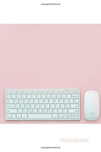 Notebook: Pastel Pink Notebook Keyboard 110 Blank Numbered Pages