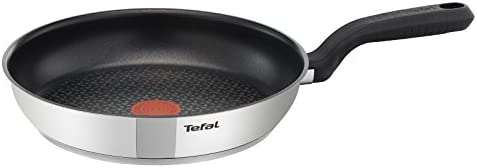 Tefal Comfort Max Stainless Steel Non-Stick Frying Pan, 28 cm - Silver