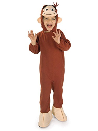 Rubie's Costume Co Unisex-Child Curious George Costume, Monkey, Small