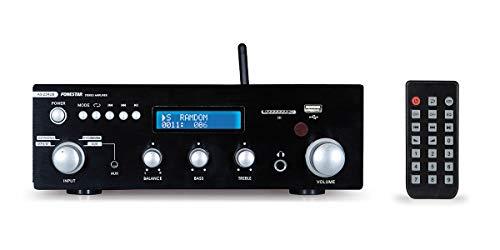 Fonestar AS-25RUB 2.0canales Hogar Inalámbrico y alámbrico Negro - Amplificador de audio (2.0 canales, 20 W, 20 W, 40 W, 20-20000 Hz, RCA)