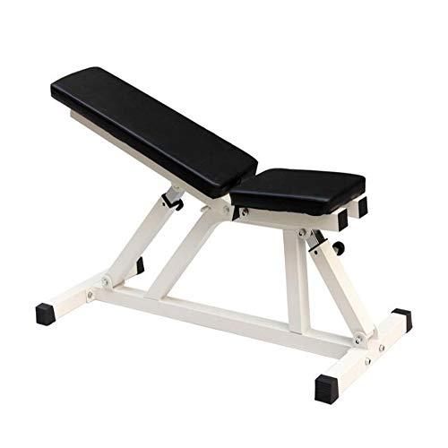 WXH Banc de Musculation pour Exercices Multifonctions, Position de Plat/Inclinaison/déclinable réglable, entraînement de la Force du Corps Complet