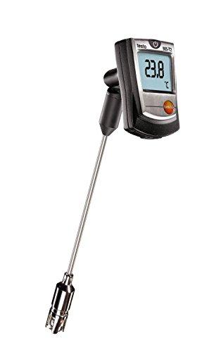Testo 0560 9056 905-T2 Oberflächen-Thermometer mit Kreuzbandfühler, sehr schnelle Ansprechzeit, hohe Genauigkeit, inklusive Befestigungs-Clip und Batterien
