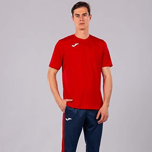 Joma Combi Camiseta Manga Corta, Hombre, Rojo, S