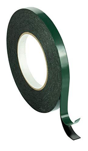 Poppstar 1x Doppelseitiges Schaumstoff-Klebeband, Montage-Band (10m x 12mm x 1mm), schwarz