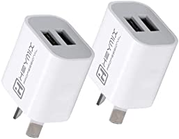 HEYMIX Dual Ports USB Wall Charger 10W2A AU Plug (2PACK/3PACK/4PACK