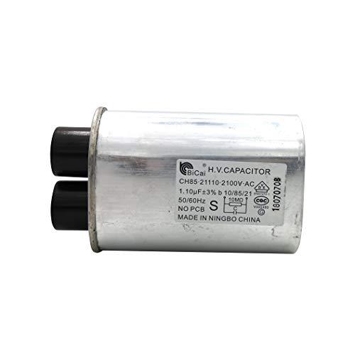 Meter Star CQC & VDE Universeller Haushalts-Mikrowellen-Hochspannungskondensator 1,10 uF ch85 21110 2100 V AC H.V-Kondensator 10/85/21 50/60 Hz ohne Leiterplatte VDE EN61270-1