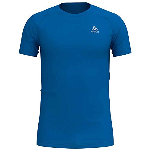 Odlo BL Top Crew Neck s/s Active F-Dry Light Haut Homme Directoire Blue FR : S (Taille Fabricant : S)