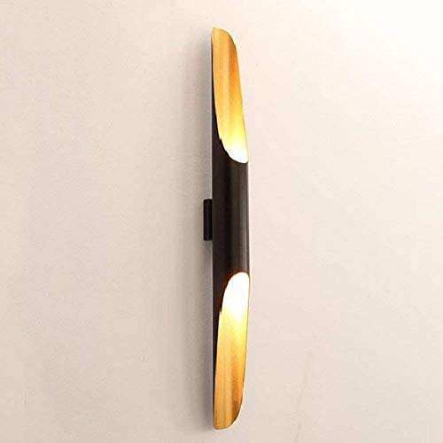 Postmodern wandlamp 60 cm schuine buis goud binnen aluminium zwart wandlamp Creative bamboe buis lamp voor slaapkamer woonkamer
