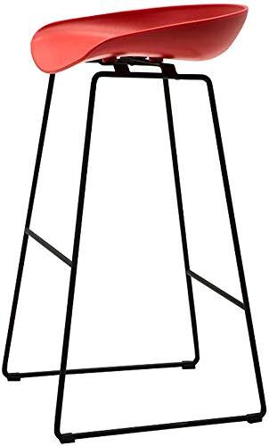 QTQZDD barkruk, moderne en moderne tuinstoelen van kunststof PP zonder armleuningen Pub Bistro keuken eetkamerstoel zijstoelen barkruk met metalen poten, rood 1 1 x Polsband