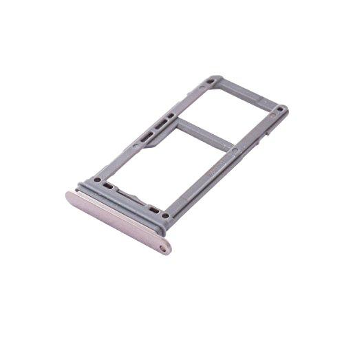 UKCOCO Bandeja de la Tarjeta SIM y Ranura para la Tarjeta SD Soporte de la Ranura Accesorios de Repuesto para celulares Samsung Galaxy S8 / S8 Plus Piezas de Repuesto (Oro)