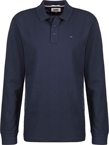 Tommy Hilfiger Tjm Essential Longsleeve Polo, Blu (Black Iris 002), Medium Uomo