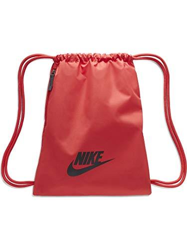 NIKE Heritage Gym Sack - Saco de deporte unisex para adulto, color Pista Rojo/Rojo Pista (Gris Oscuro), tamaño MISC