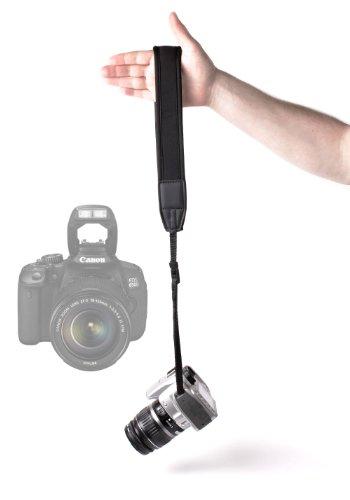 DURAGADGET Sangle Noire Haute qualité et résistante en néoprène rembourré pour Appareil Photo SLR Canon EOS 650D et EOS 6D, Canon EOS 5D MK II/MK III