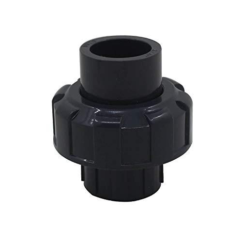 Union tubo pvc 20 25 32 40 50 63 75 90 110mm enlace union conexion manguito pvc conector adaptador racor union piscina para bomba filtro (Diámetro Interno 63mm)