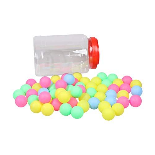 LIOOBO 60 Stücke Tischtennisbälle Bunte Spielbälle Bier Ping Pong Bälle Bingo Kugeln Saufspiele Trinkspiel Partyspiel Bälle Requisiten Party Lieferungen