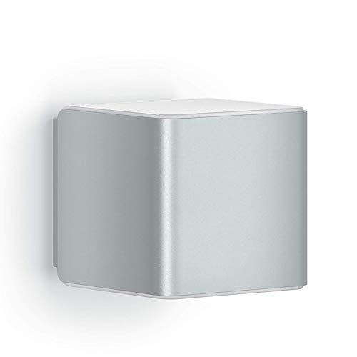 Steinel Wandleuchte L 840 iHF Silber, LED Außenleuchte, 160° Bewegungsmelder, vernetzbar, per App bedienbar, UV-beständiger Kunststoff, 9,5 W