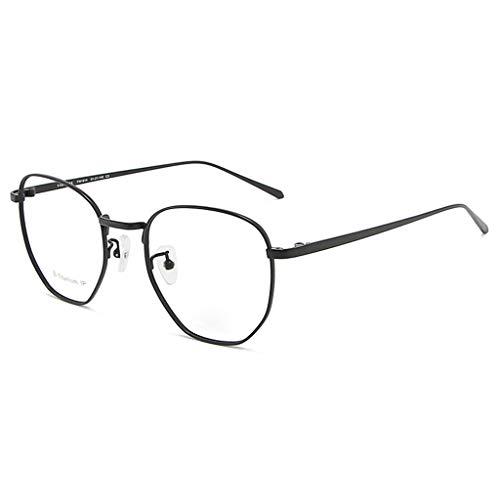 Gafas retro anti-Blu-ray para mujer Marco de aleación Moda Gafas ópticas redondas Anteojos sin receta-D