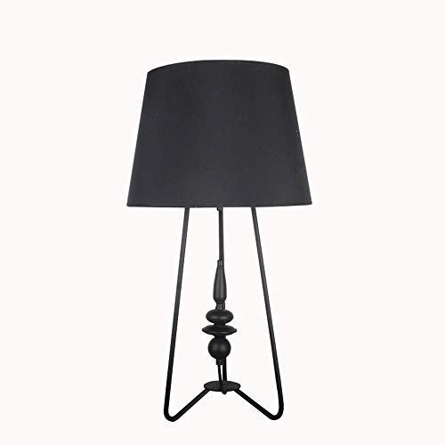 Equipo para el hogar Lámpara de escritorio negra Sala de estar creativa Lámpara de escritorio de hierro forjado Lámpara de escritorio de gran tamaño Iluminación Lámpara de pie (puerto de tornillo E