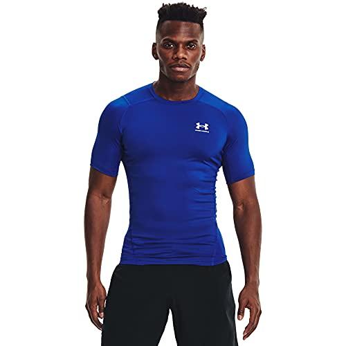 Under Armour Camiseta de compresión Heatgear para Hombre, Hombre, Camiseta, 1361518-400, Royal/White 400, Large