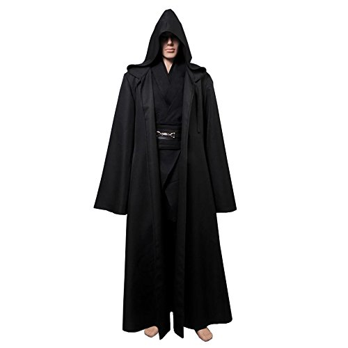 Fuman Kostüm Anakin Skywalker Kostüm Jedi Kostüme für Erwachsene Schwarz L
