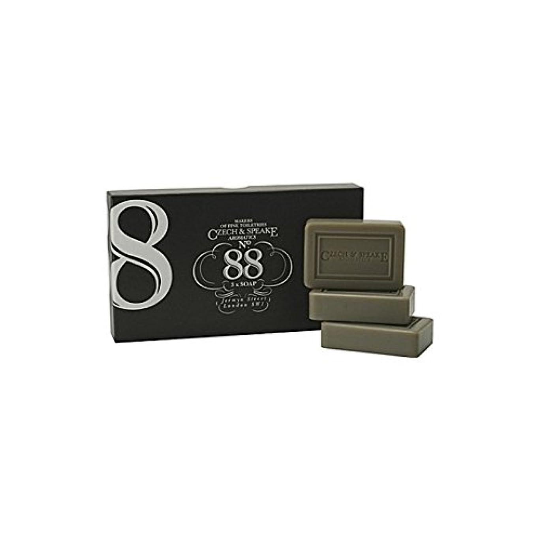 排泄物冊子扱うチェコ&スピーク.88ソープセット x4 - Czech & Speake No.88 Soap Set (Pack of 4) [並行輸入品]