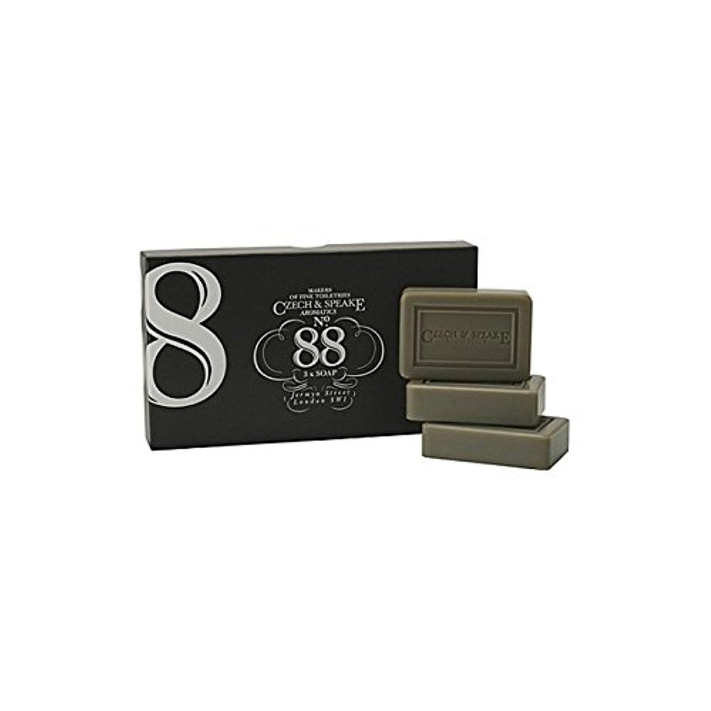 検査官遠えわずかなチェコ&スピーク.88ソープセット x4 - Czech & Speake No.88 Soap Set (Pack of 4) [並行輸入品]