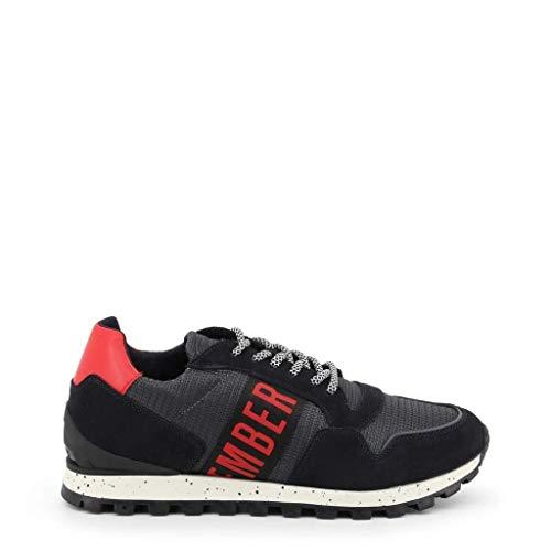 Bikkembergs Fend-ER 2356, Sneaker Uomo, Multicolore (Dark Grey/Blue 415), 43 EU