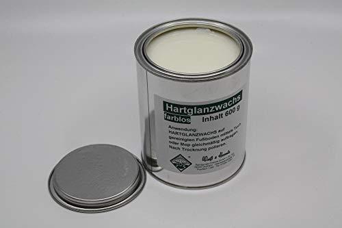 Wasserrose® 600 g (100g=1,74€) BOHNERWACHS HARTGLANZWACHS BODENWASCHS TRENNWACHS Weiss (FARBLOS) Made IN Germany