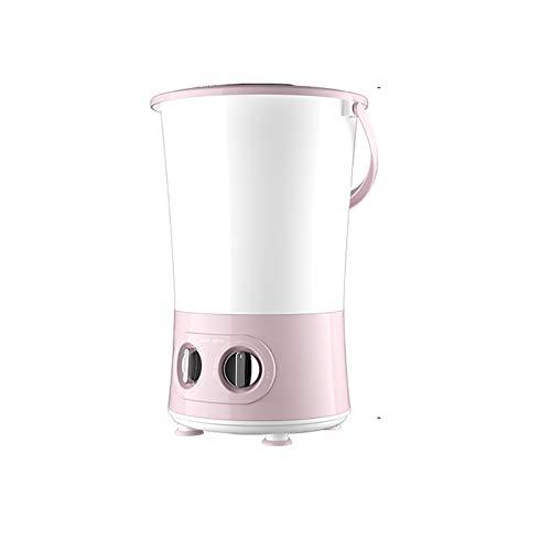 ReedG Mini Lavadora Lavar los Calcetines Artifact, Dividido en Cubos para Lavar la Ropa Interior pequeña Lavadora Plegable de Tres Cubo Arandelas portátiles (Color : Pink, Size : 32.5x32.5x50.5cm)
