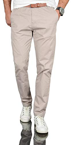 A. Salvarini Herren Designer Business Chino Hose Chinohose Regular Fit AS-095 [AS-095 - Hellgrau - W32 L30]