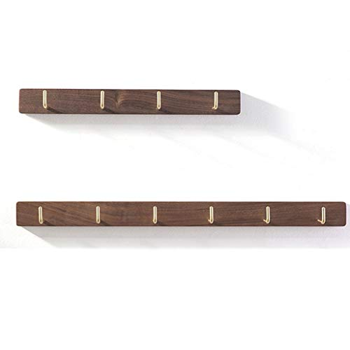 Jixi Perchero para abrigos de pared con ganchos de metal vintage, ideal para tu entrada, cocina, baño creativo (color marrón, tamaño: paquete de 2)