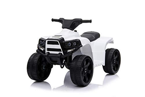 Toyas Kinder Kinderquad Kinderelektroquad Elektro Quad Fahrzeug Auto Elektroauto JC912 Weiß Weiss