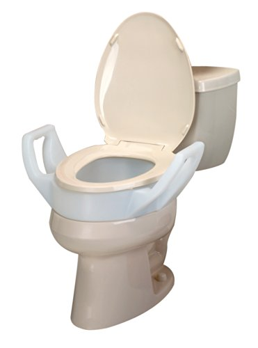 Maddak Elevated 3 1/2 Inch Toilet Seat with Arms, Elongated (725753311)