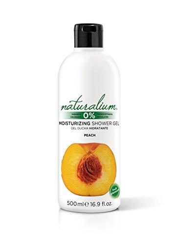 Naturalium Gel de baño aroma Melocoton - Gel de ducha hidratante con olor a fruta fresca. Sin Parabenos ni Colorantes. Formato 500 mL