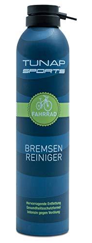 TUNAP SPORTS Bremsenreiniger Spray | Fahrrad Bremsen reinigen | Entfernt Verschmutzungen, zugunsten der Bremsleistung (300ml)
