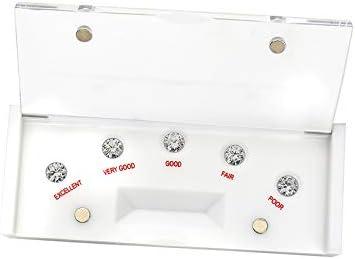 Refer to GIA Standard New White Under blast sales Cut CZ Box Mast Ranking TOP8 Diamond Scale