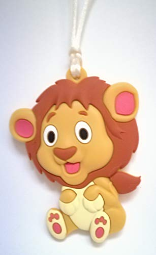 Chewelry Sensory Chews ASD Chew Necklace for Special Needs Children/Kids with Autism SEN ADHD Who Need to Bite/Fidget Aids Concentration Safe Biting Jewellery Chewy Teething Therapy Tubes Toy Lion