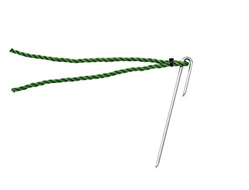 TOEI LIGHT(トーエイライト) ポイントマーカー15 緑 グランド整備 同色10本1組 カラー:緑 ポリエチレンロープ5mm×20cm 杭4mm×15cm G1238G