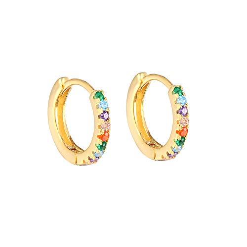 Pendientes de cristal CZ arcoíris