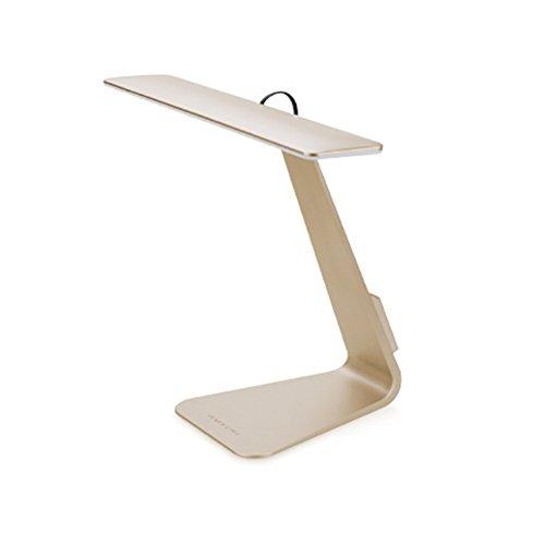 Luxugen Lámpara de escritorio LED sensible al tacto, 210 ° flexible, lámpara de lectura para el cuello y el cuidado de los ojos para dormitorio con 3 modos de iluminación (dorado)