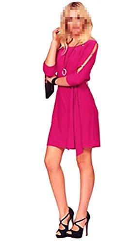 Melrose Abendkleid Damen Kleid Minikleid Jerseykleid mit Gürtel Himbeere (40)