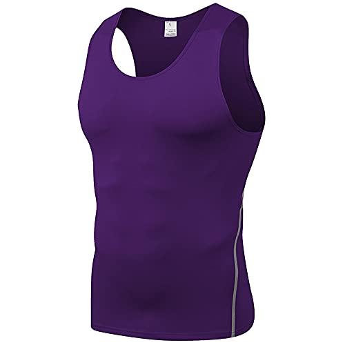 Camisetas Sin Mangas Hombres Slim Fit Color Sólido Cuello Redondo Tops Hombres Moda Camisa Deportiva Verano Culturismo Fitness Funcional Shirt Hombres Stretch Muscle Shirt Hombres