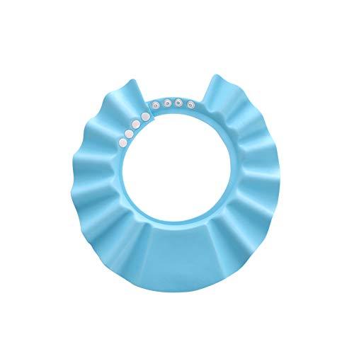 Leak Proof del bagno del bambino della visiera di sicurezza Shampoo Doccia Bathing Protezione Bagno Cappellino morbido cappello della visiera regolabile per bambino, bambina, bambini - Blu